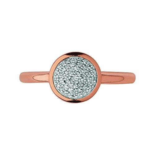 Links of London Donna Diamante FINERING, argento, 52 (16.6), colore: oro rosa, cod. 5045.5501000000004