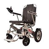 LOLRGV Faltbare Elektro-Rollstuhl Leichtes Aluminium Rahmen Hand Elektrische Doppel Bedienung mit Handläufen 12Ah, 20Ah Lithium-Batterie,12ah -