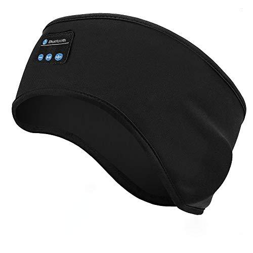 Linkax Auriculares para Dormir,Bluetooth V5.0 Deportes Diadema,Deportiva Banda Auriculares con Ultrafinos HD Estéreo Altavoces,Perfectos para Deportes, Dormir de Lado, Viajes Aéreos y Relajación
