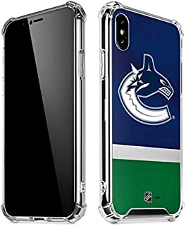 Skinit Clear Phone Case for iPhone Xs Max - Officially Licensed NHL Vancouver Canucks Jersey Design