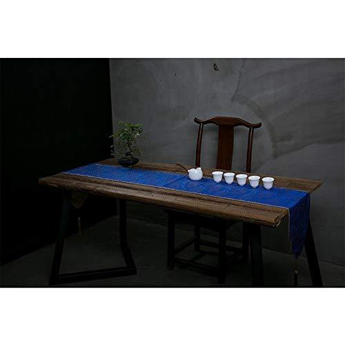 Decoración hogareña Paño Camino de mesa bordado mesa de té mesa de la bandera de algodón y lino paño de cocina bandeja de té Cojín Zen del té de la tela de lino para decoración de fiesta en casa