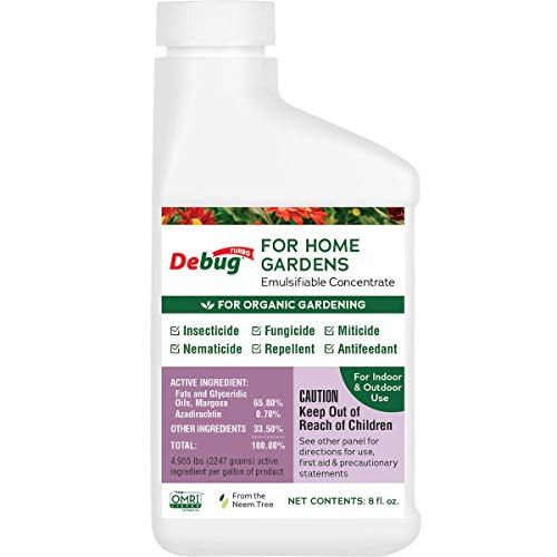 DEBUG Turbo - Neem Oil + Azadirachtin & More - Makes 22 Bottles of Spray - Used by America s Organic Farmers - Insecticide, Fungicide, Miticide - for Organic Gardening & Plant Care, Conc. (8 fl. oz)
