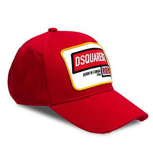 DSQUARED2 D2 'Riders - Gorra de béisbol, color rojo