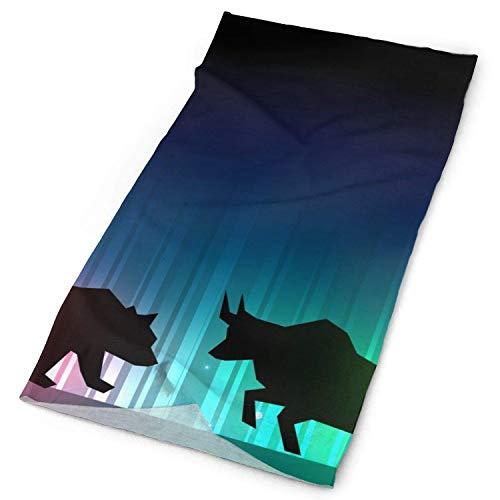 go afk plz Stock Market Illustrator mit Bulle und Bär Sun-Maske, Hals Gamasche, Kopfbedeckung, magischer Schal, Stirnband, Stirnband für die Jagd, Radfahren, Motorradfahren, Laufen