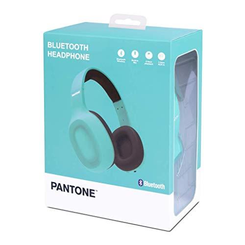pantone cuffie bluetooth Pantone™ - Cuffie Stereo Bluethoot - 8 Ore di Autonomia - Azzurro Ciano