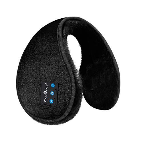 イヤーマフ 防寒 Bluetooth イヤーウォーマー 耳あてメンズ レディース ステレオ再生 通勤 通学 アウトドア お出かけ スポーツに対応 (ブラック)