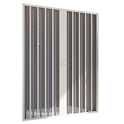 Puerta de Ducha en PVC 150CM H185 Plegable con Apertura Central Color Blanco Mod. Flex