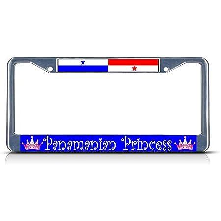 PANAMA Flag Steel License Plate Frame