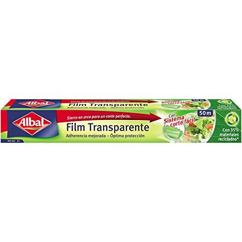 Albal Film transparente para uso alimentario, extra ancho 32 cm, fácil de cortar, 50 m