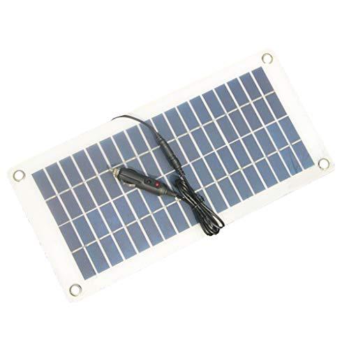 balikha 8,5 W/12 V solcellspanel batteriladdare DC5521 på krokodilklämmor tändare