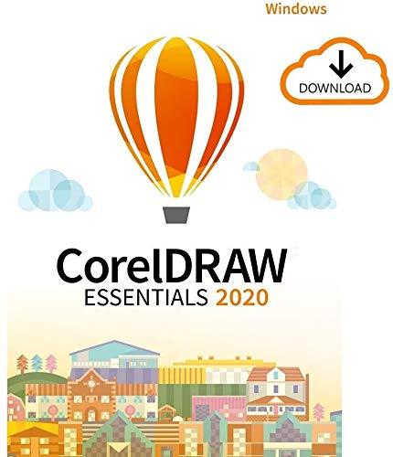 CorelDRAW Essentials 2020 | Logiciel de conception graphique | 1 appareil | PC | Code d'activation PC - envoi par email
