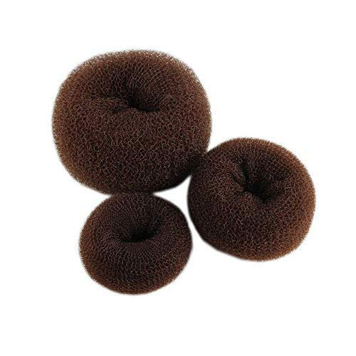 Sohapy 3 Pieces Brown Women Hair Bun Maker Donuts Ring - (1Large, 1Middle,...