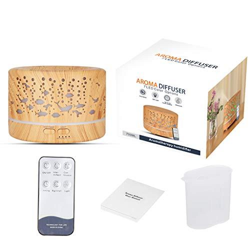 Unknow Humidificador de Aire silencioso de 700 ml, difusor de Aceite Esencial, aromaterapia, Fabricante de Niebla fría ultrasónica eléctrica para el hogar