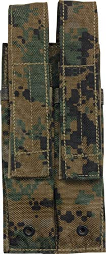 Fire Force MP5 Mag Pouch 30 Round Magazine Pouches Made in USA (MARPAT Woodland, Double-2)