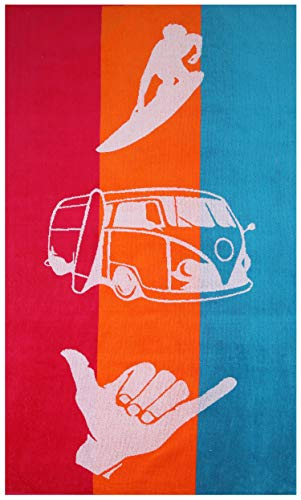 Betz Toalla de playa tacto velour toalla de baño 100% algodón 75x150 cm diseño OCIO