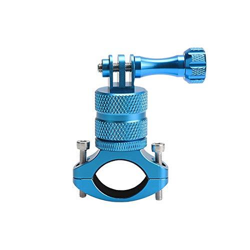 LiDCH Fahrradhalterung für GoPro Hero 7, 6, 5, 4, 3+, 3, 2, 1, 360 Grad drehbar, Action-Kamera, Metallhalterung, Lenkerhalterung für SJCAM Canon, Nikon, Sony und andere Kameras, LiD-GP63B-blu, blau