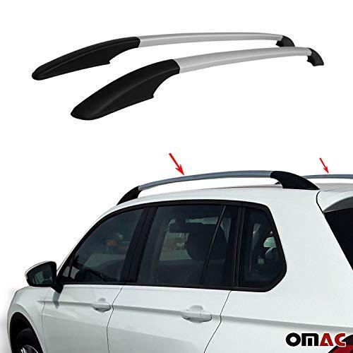 Aluminium Grau Dachreling Dachgepäckträger für Qashqai 2007-2014 Relingträger Gepäckträger Fahrzeugspezifisch