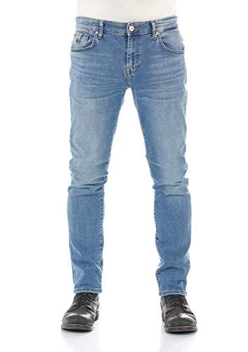 LTB Herren Jeans Jeanshose Joshua - Slim Fit - Blau - Landon Wash W28-W42 Stretchjeans 98,5% Baumwolle schmaler Schnitt, Größe:W 34 L 30, Farbvariante:Landon Wash (51532)
