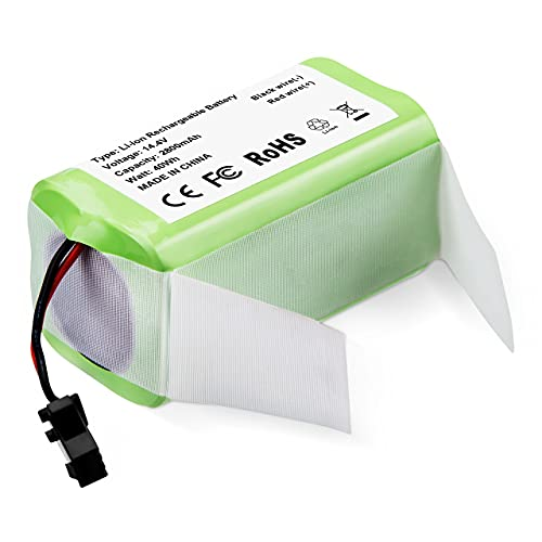 Powerextra Batería de Repuesto 14.4v 2800mAh Compatible con Conga Excellence 990 950 1090 Ecovacs...