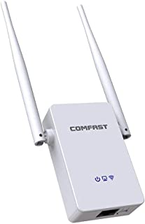 COMFAST Dual Band WiFi Extender 1200Mbps Wireless Repeater WiFi Router AP Mode 2 High-gain Antennas