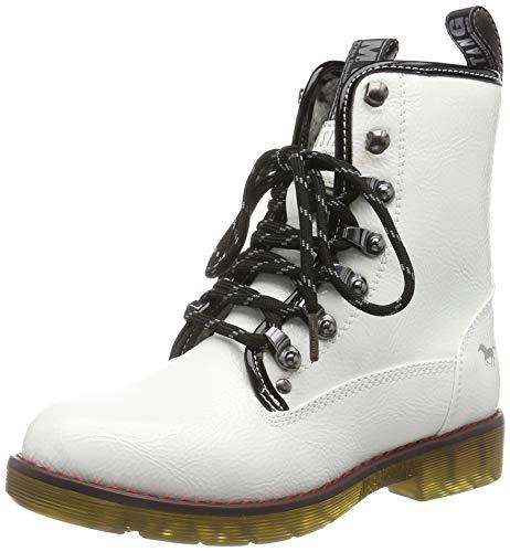 MUSTANG Mädchen 5055-601-1 Stiefeletten, Weiß (Weiß 1), 38 EU