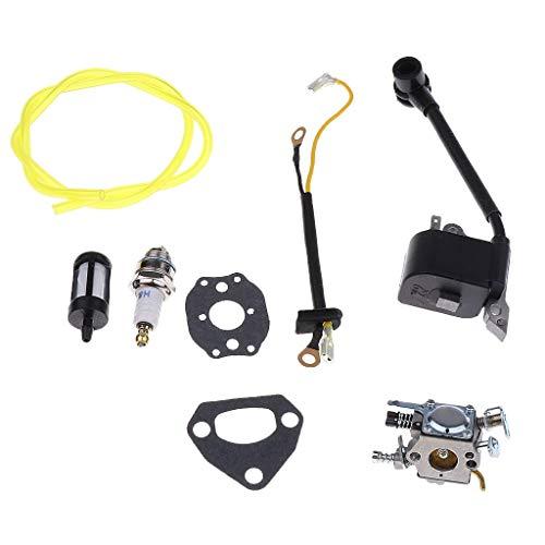Kit de reparación de carburador de césped de combustible Kit de reparación de bobina de encendido de carburador para motosierras Husqvarna Kit de juntas
