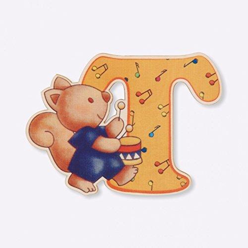 Dida - Lettre T Bois Enfant - Lettres Alphabet Bois pour Composer Le nom de Votre bébé et décorer la Chambre