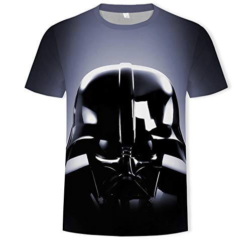 ASDZXC Capitán América Star Wars - Camiseta de manga corta para hombre, color negro, d, XS