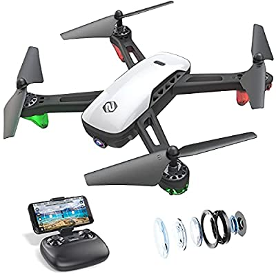 SANROCK U52 Drone with 1080P HD Camera for Adults, WiFi Live Video FPV Drone RC Quadcopter for Beginners, Gravity Sensor, Altitude Hold, Headless Mode, 3D Flip, Custom Route, One Key Return Home