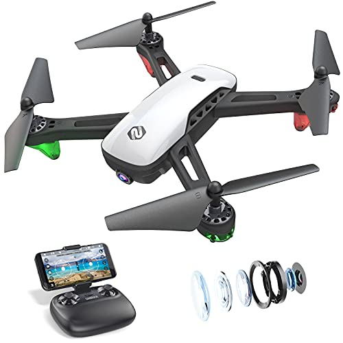 SANROCK U52 Drone with 1080P HD Camera for Adults and Kids, WiFi Live...