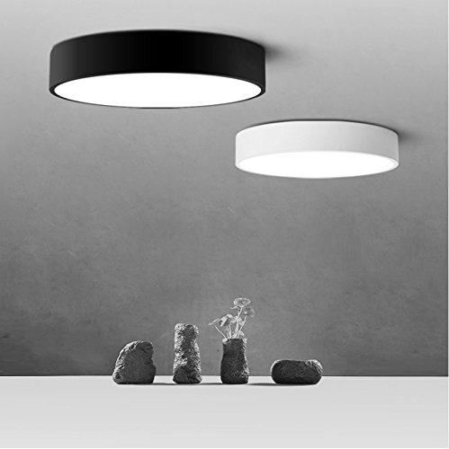Ancernow Creativo Simple Warm plafoniere Led round ,32cm bianco plafonier per la camera da letto, Sala da pranzo, corridoio, camera bambini, hotel, soggiorno