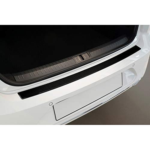 Avisa Protection de seuil arrière carboné compatible avec Volkswagen Passat 3G Sedan 2014- Carboné noir