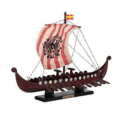 1yess Militärsegel Modell, Drachenbootrennen Segeln China Modell, Hauptdekoration und Geschenke, 14.2Inch X 9.8Inch