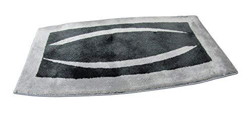 Clarissa Badteppich Cardiff Anthrazit Silbergrau ca. 60x100 cmBadematte Badezimmerteppich Badgarnitur Badvorleger Duschmatte