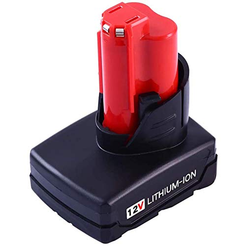 12V 6000mAh Lithium-ion Replacement Battery Compatible with Milwaukee 48-11-2440 48-11-2402 48-11-2411 Cordless Power Tools