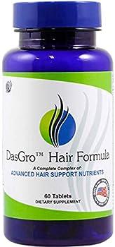 DasGro Hair Growth Vitamins Biotin & DHT Blocker Stops Hair Loss Thinning Balding Promotes Hair Regrowth in Men & Women All Hair Types 30 Day Supply