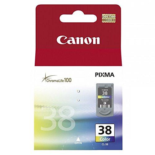 Canon CL-38 Cartucho de tinta original Tricolor para Impresora de Inyeccion de tinta Pixma MP140-MP190-MP210-MP220-MP470-iP1800-iP1900-iP2500-iP2600