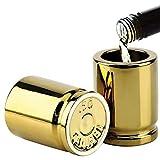 KFXD Set di Bicchieri da Liquore Divertenti con Pistola Alta Cal, Regalo Perfetto per Compleanno, Groomsmen, Poliziotto 2inchesx2.6inches Oro