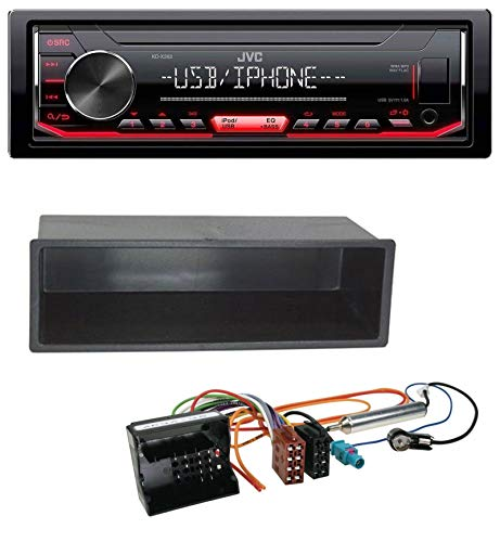 caraudio24 JVC KD-X252 1DIN AUX USB MP3 Autoradio für Peugeot 207 307 Expert Partner