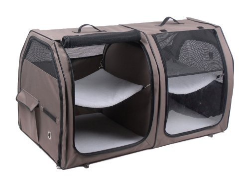 One for Pets Cat Show House Portable Dog Kennel (Shelter) Red/Cream/Tan