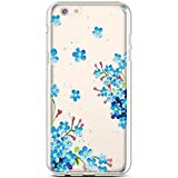 Robinsoni Cover Compatibile con iPhone 6S Plus Cover Silicone Colorate Clear View Traspare...