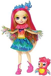 Enchantimals - Muñeca Peeki Parrot - muñeca, edad recomandada 4 - 10 años (Mattel FJJ21)