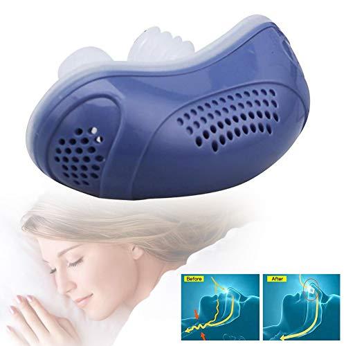 HOTEU Dispositivos Antirronquidos Silicona Eléctrica Antirronquidos Clip De Nariz Parada Dilatador Nasal Ventilaciones De Nariz Tapones Para Un Sueño Cómodo