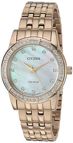 Citizen Damenuhren Silhouette Crystal EM0770-52Y One Size rose