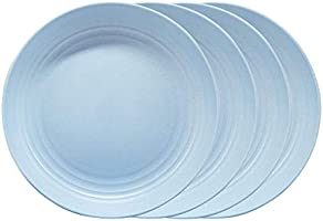 9 Inch Reusable Dinner Plate, Wheat Straw Lightweight Unbreakable Durable Large Deep Plate, Dishwasher and Microwave...
