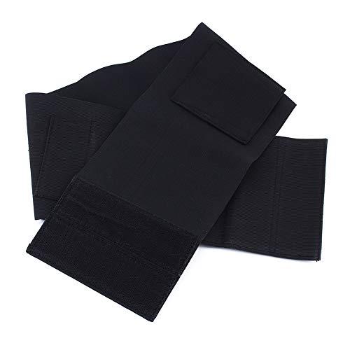 Yosoo Waistband Holster Elastic Belly Band Waist with 2 Magzine Pouches Black