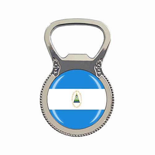 Nicaragua Flagge Bierflaschenöffner Kühlschrank Magnet Metall Glas Kristall Reise Souvenir Geschenk Heimdekoration