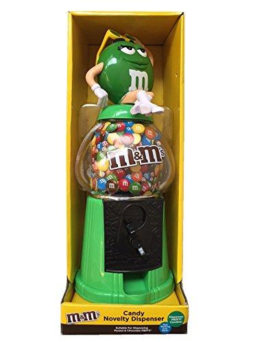 M&M's - Distributore di bottoncini di cioccolato e salvadanaio, dimensioni: 30,5 cm, colore: verde