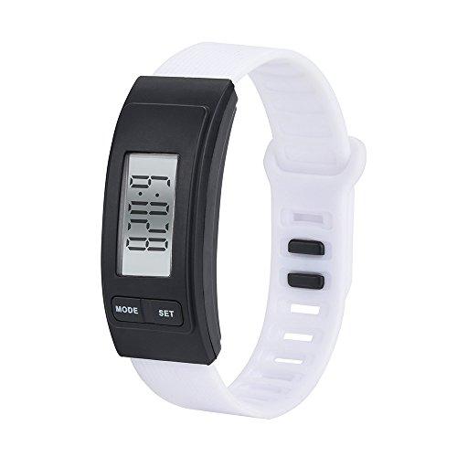 OSYARD Herren Damen Uhren Armbanduhr Uhr, Unisesx Run Step Watch Armband Schrittzähler Kalorienzähler Digital LED Walking Distance Pedometer mit Uhr Watch Stepcounter Kalorienzähler Sportuhr