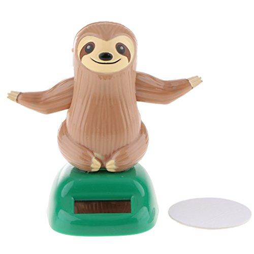 Solar Powered Toy Animal Figure Dancing Swing Figure Model Toy Dashboard Car Desk Decoration - B